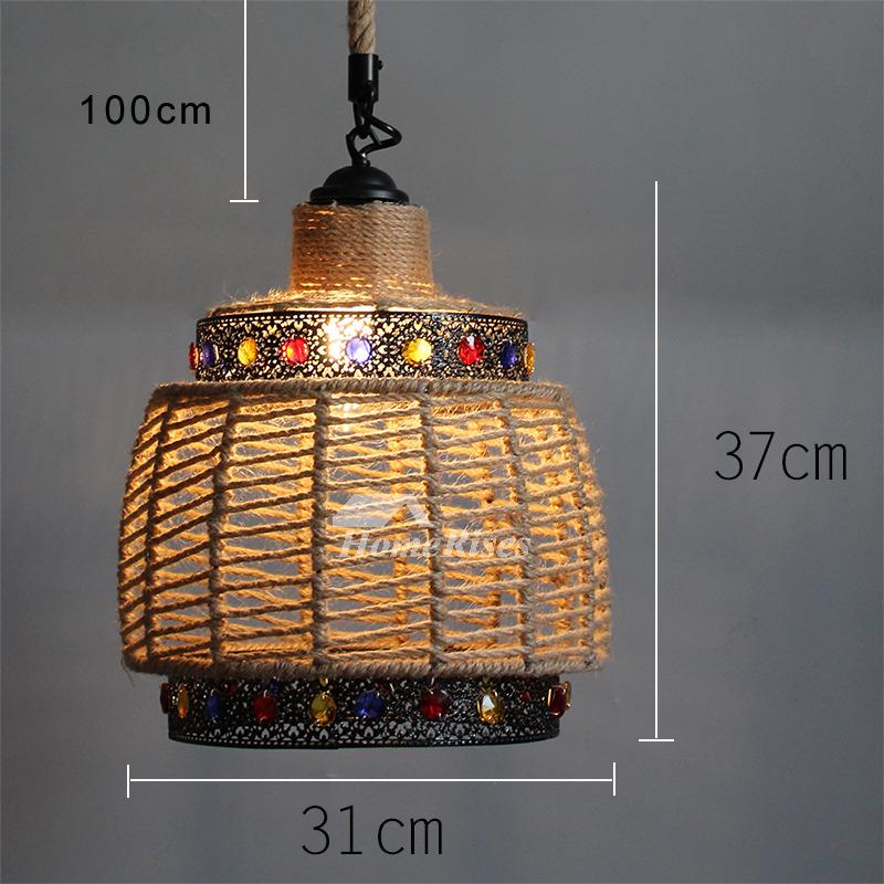 Outdoor Industrial Pendant Light: Industrial Hanging Pendant Lights Rustic Rope Outdoor Rope