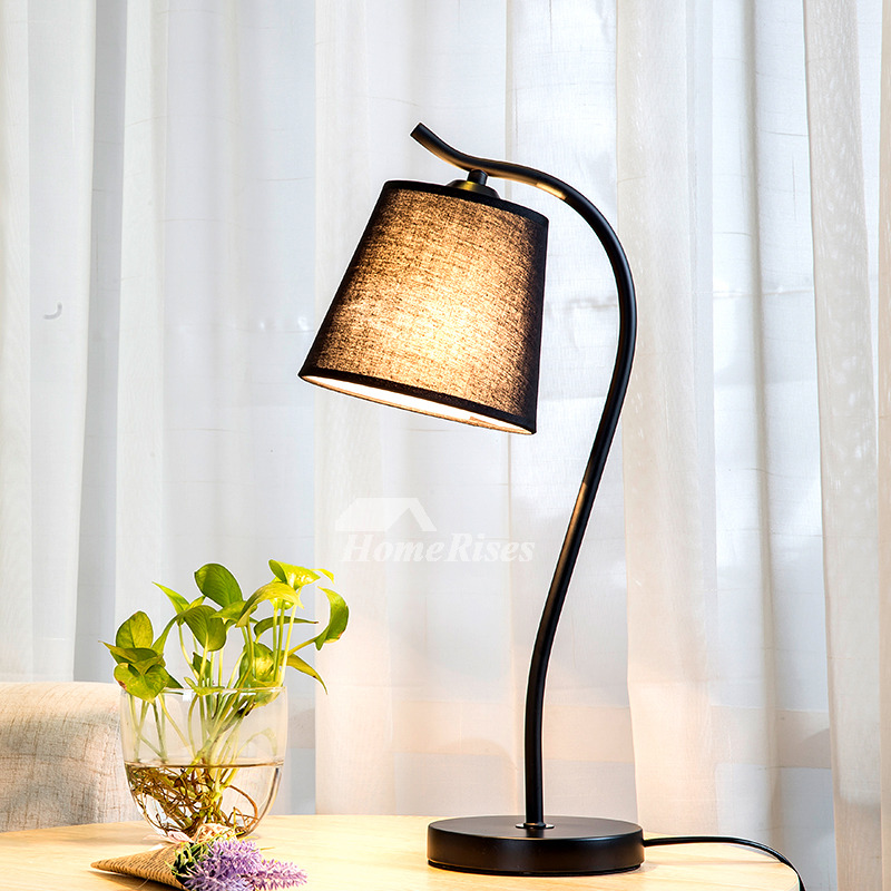 Modern Table Lamp Fabric Shade Hardware E27 Cheap Living Room