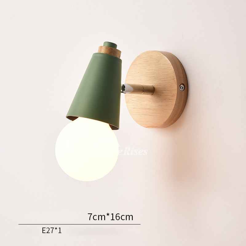Modern Small Wall Sconces Decorative Metal Wood Kids Lighting on Wood And Metal Wall Sconces id=90456