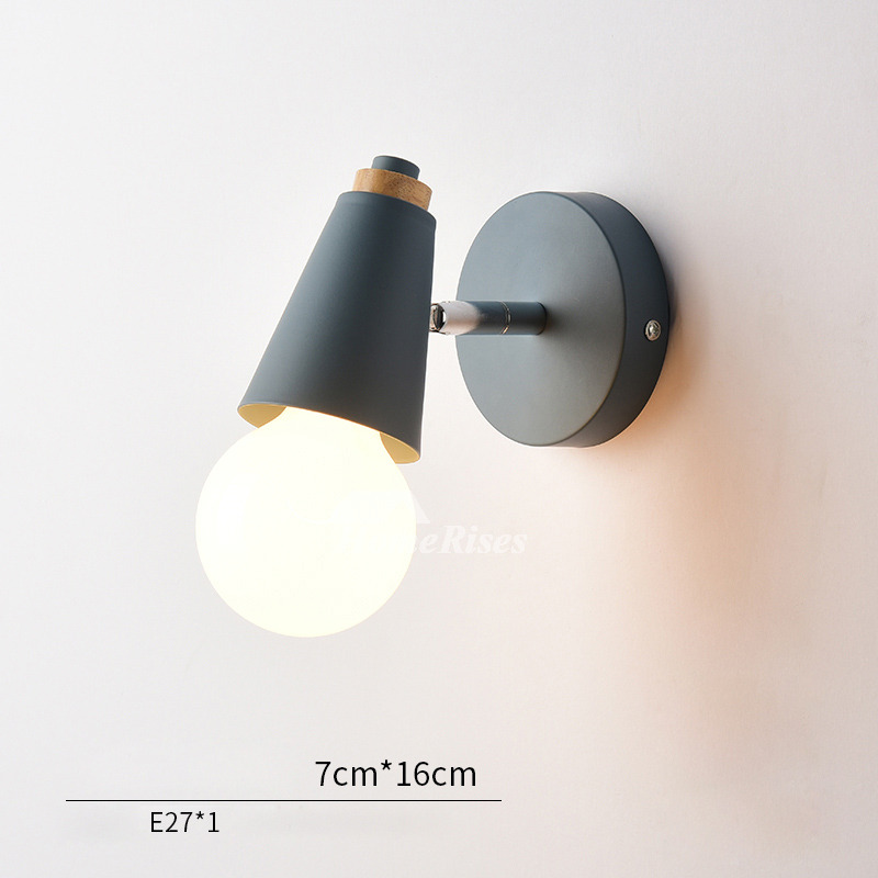 Modern Small Wall Sconces Decorative Metal Wood Kids Lighting on Wood And Metal Wall Sconces id=23729