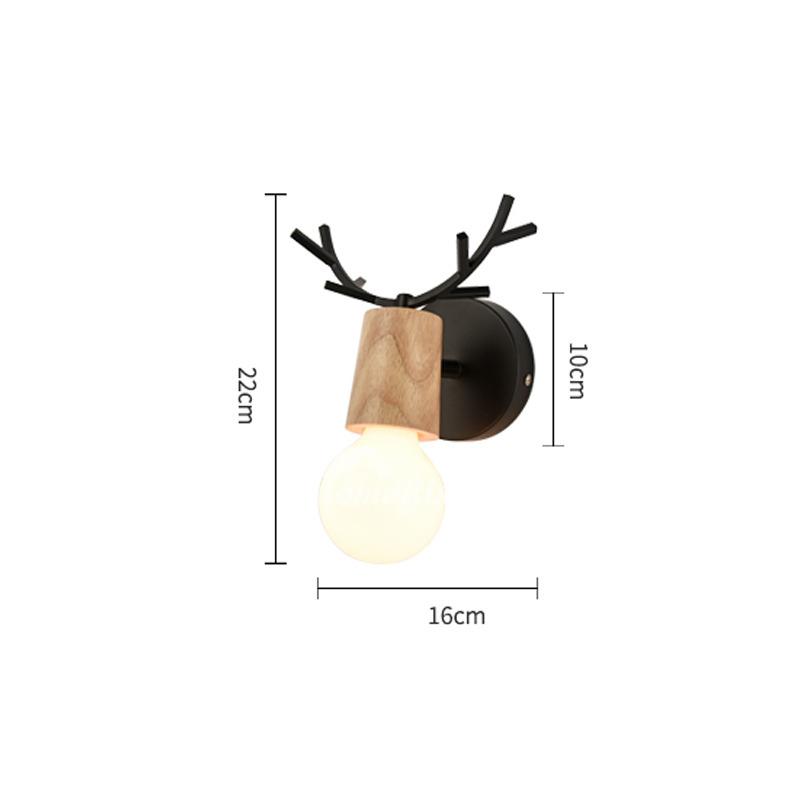 Modern Small Wall Sconces Decorative Metal Wood Kids Lighting on Wood Wall Sconces Decorative Lighting id=77704