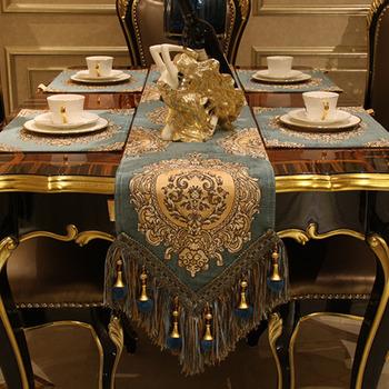 Blue Table Runner With Tassel