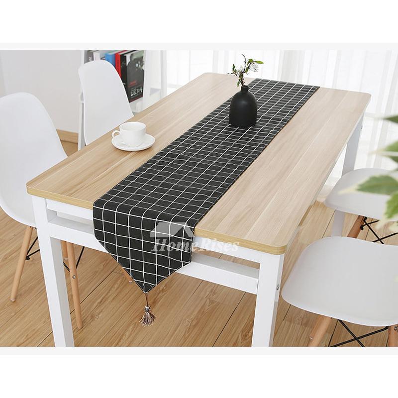 Plaid Table Runner Cheap Blending Blue Green Modern 72 Inch