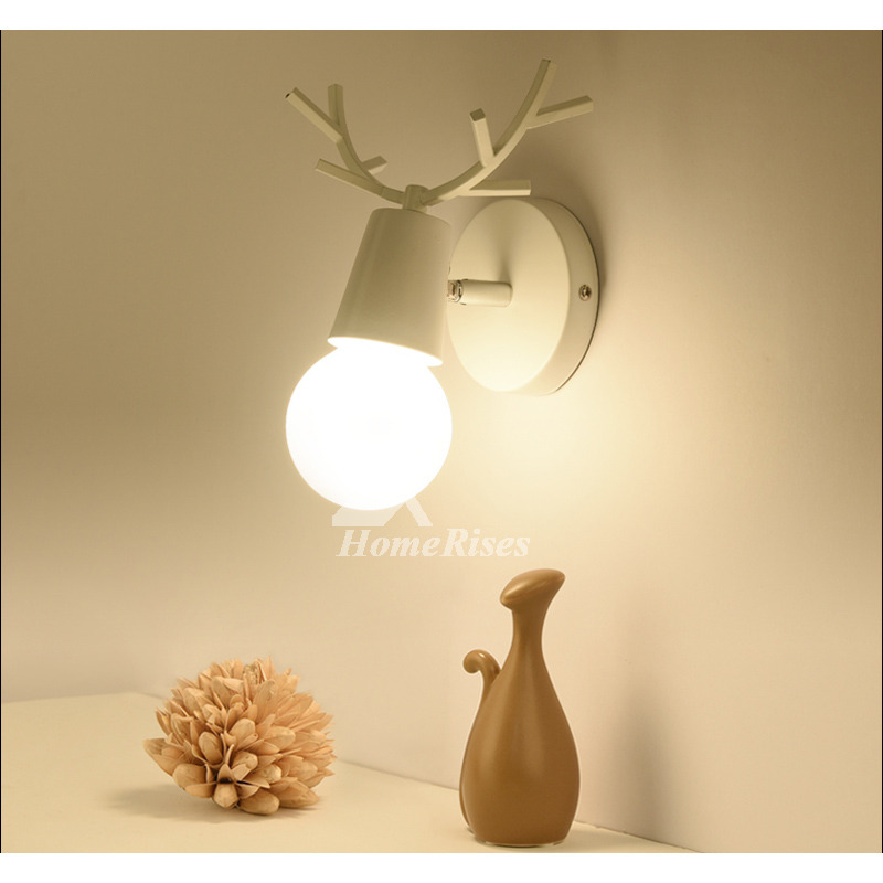 Small Wall Sconces Decorative Wooden Cheap Bathroom Metal Modern
