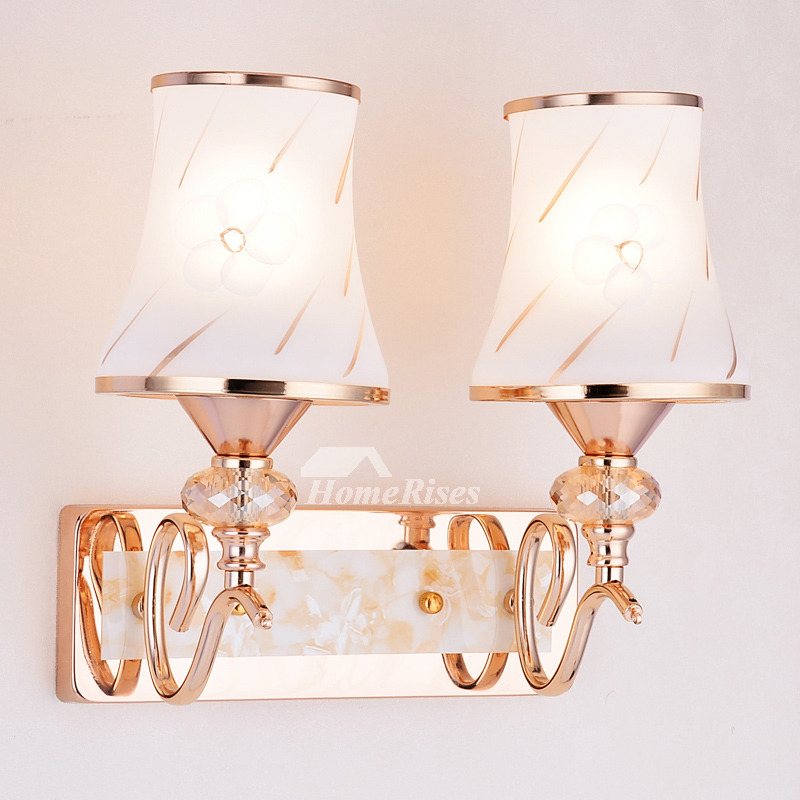 Modern Wall Sconces 2 Light Hardware Glass Pull Chain