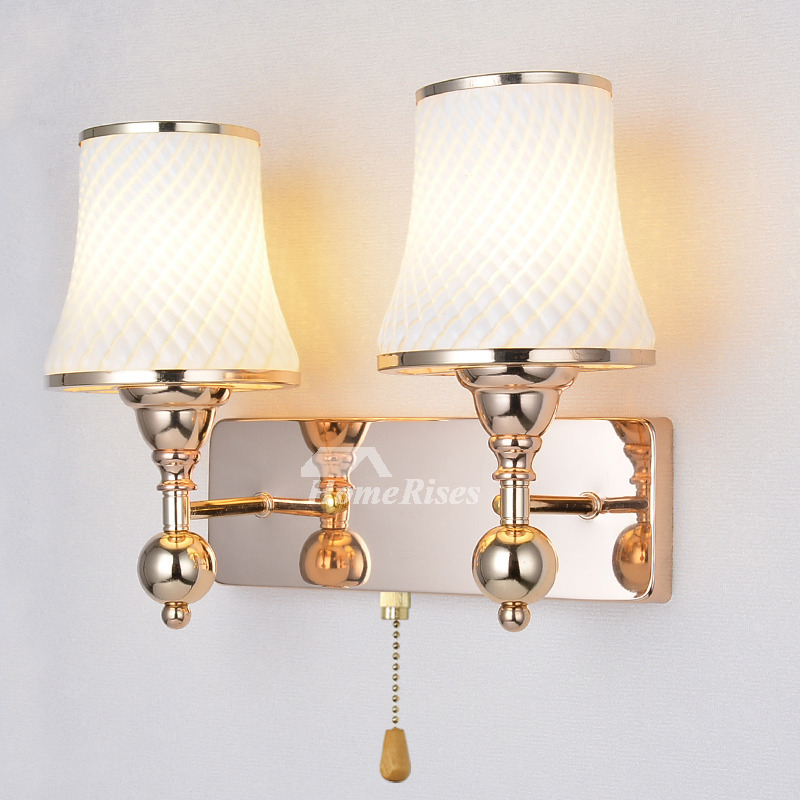 Wall Sconces Lighting Indoor Hardware Gl Modern Pull Chain 2 Light