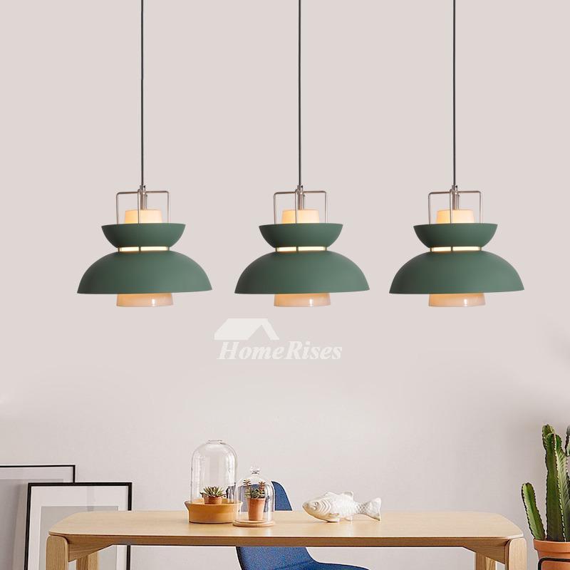 Hanging Pendant Lights Iron Gl Shade Orange Modern Nordic Fixture