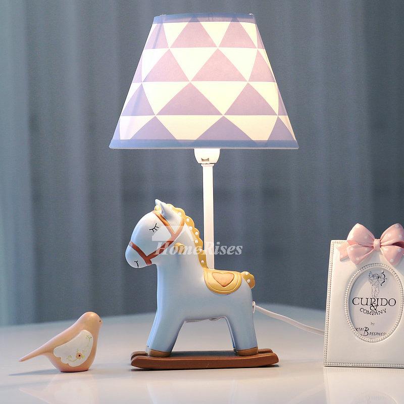 Designer Kids Lamps Fabric Resin Bedside Cheap Modern