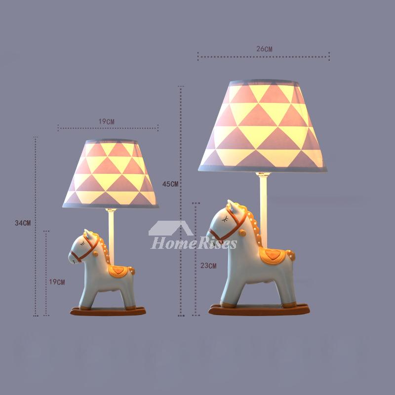 Designer Kids Lamps Fabric Resin Bedside Modern Reading Small