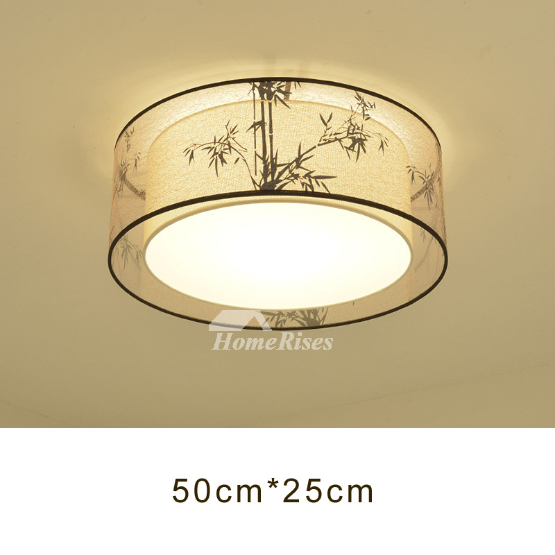 Ceiling Lights For Bedroom Flush Mount Fabric Wrought Iron Fixture