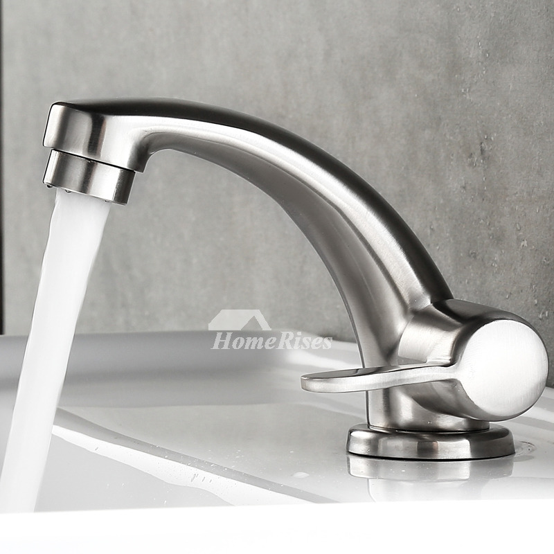Bathroom Faucet Brushed Stainless Steel