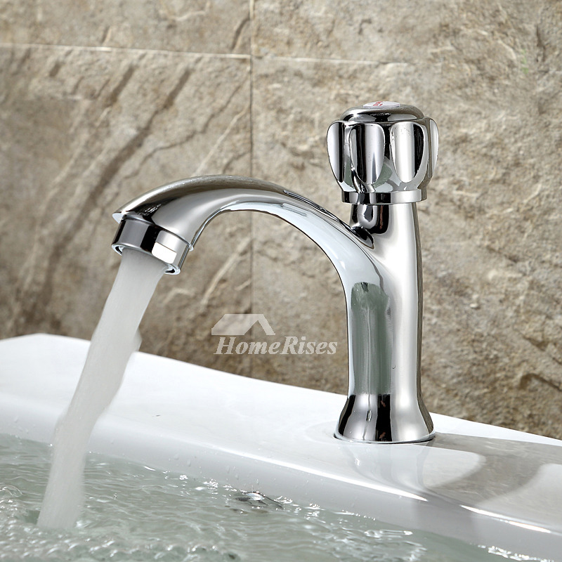 Vessel Sink Faucets Silver One Hole Brass Chrome Bathroom Discount