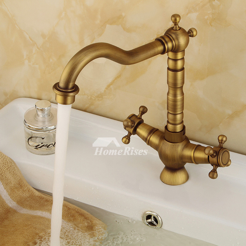 Antique Gold Bathroom Faucets Image