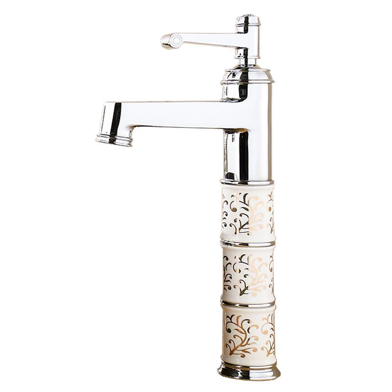 Single Hole Bathroom Faucet Silver Chrome One Handle Vanity Br