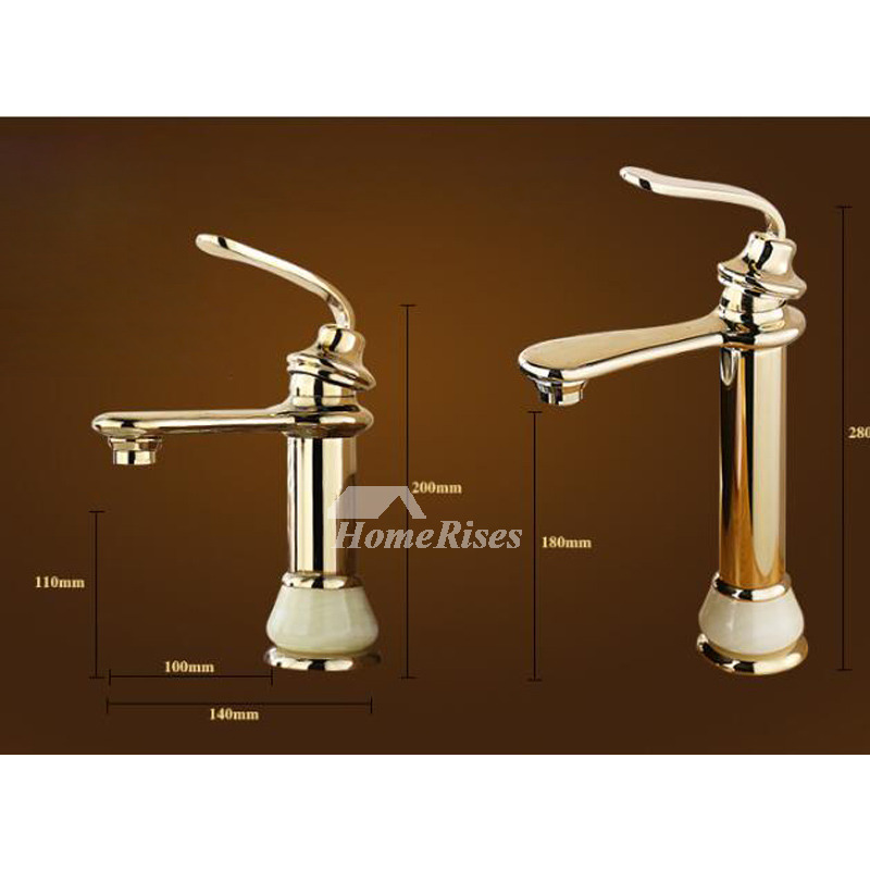 Single Handle Bathroom Sink Faucet Rose Gold Smooth Clearance