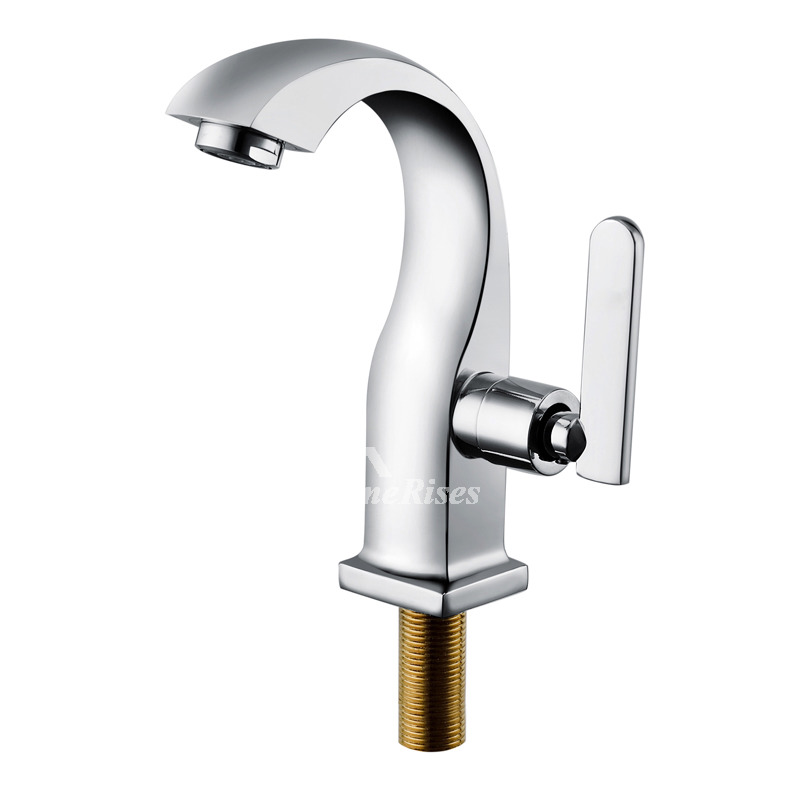 Bathroom Sink Faucets Cheap: Discount Bathroom Faucets Silver Chrome Brass Vessel