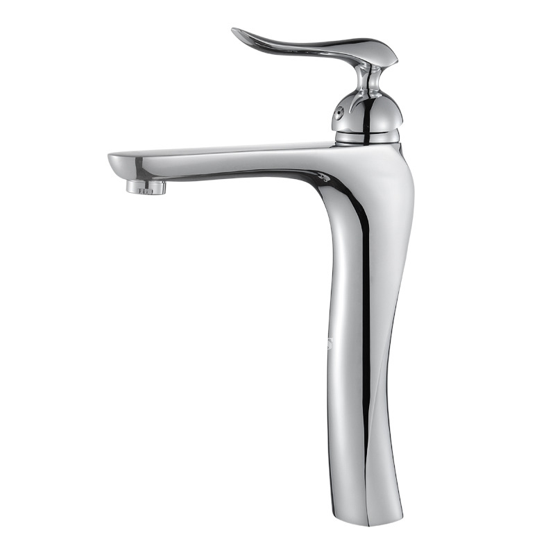 Silver Bathroom Faucets Single Handle Chrome Vessel One Hole Best