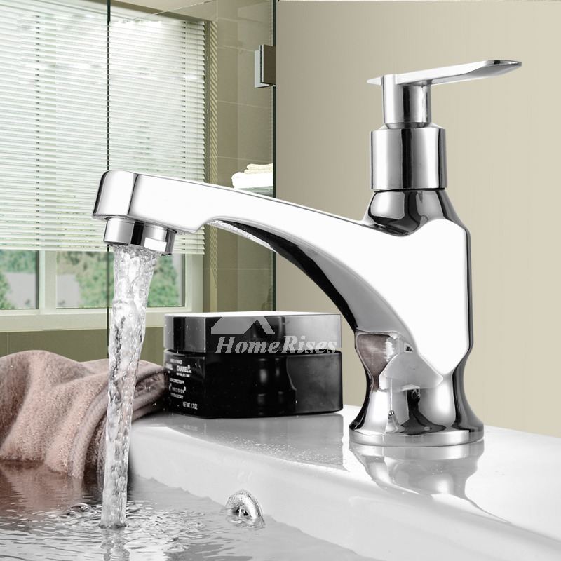 Discount Bathroom Faucets Single Handle Chrome Brass One Hole Silver