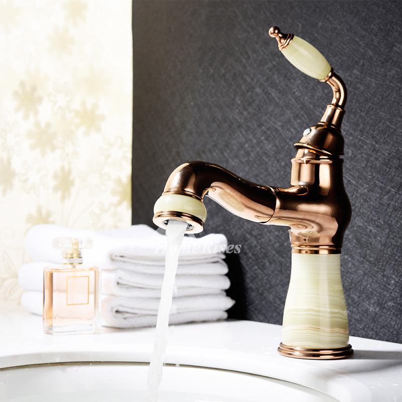 Brown Bathroom Faucets Single Handle Vanity Unique Vintage