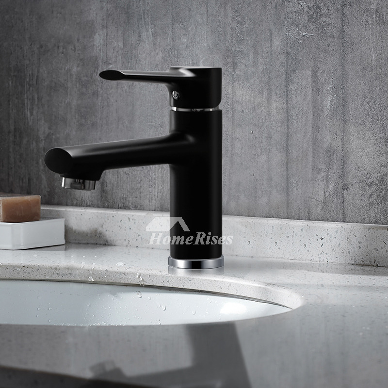 Matte Black Bathroom Faucet Single Handle Oil Rubbed
