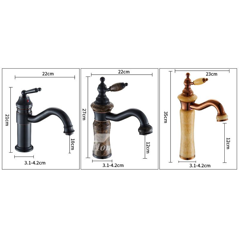 Black Bathroom Sink Faucet Oil-Rubbed Bronze Single Handle Vessel