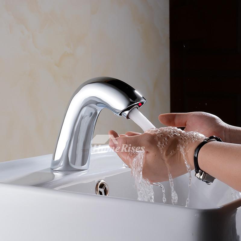 Touchless Bathroom Faucet Vessel Chrome