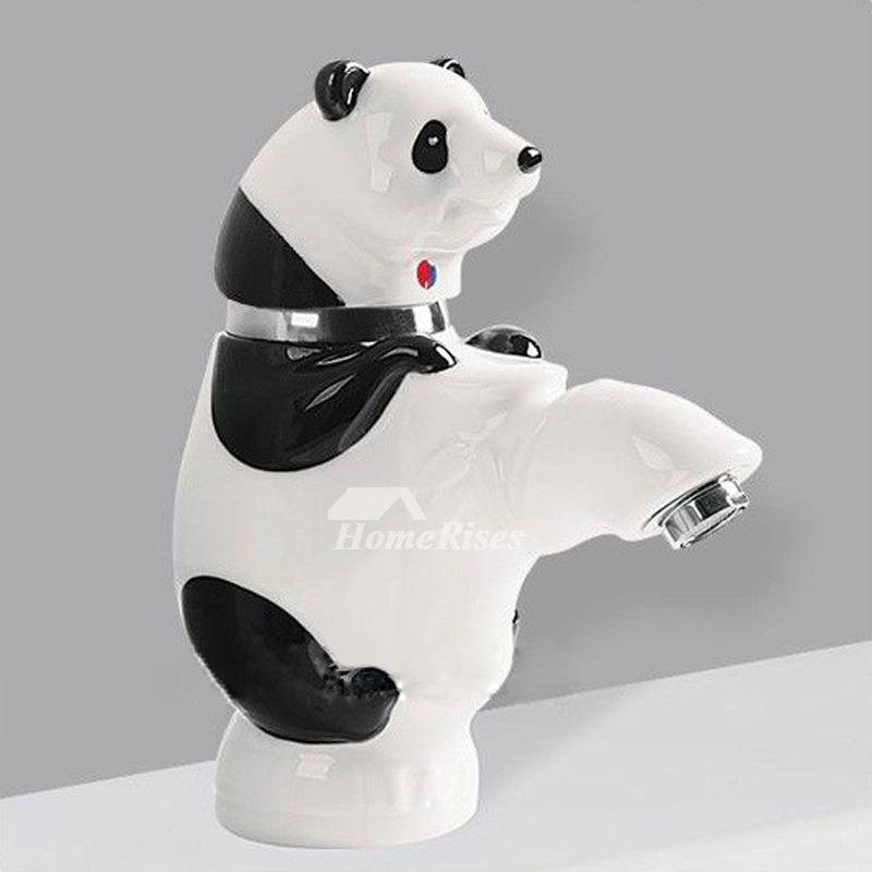 Fancy Bathroom Faucets Single Handle Vessel White Black