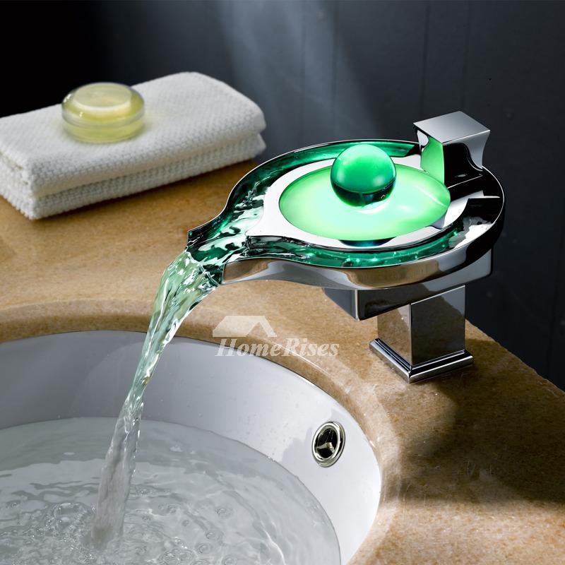Designer Bathroom Faucets Led Brass, Designer Bathroom Faucets
