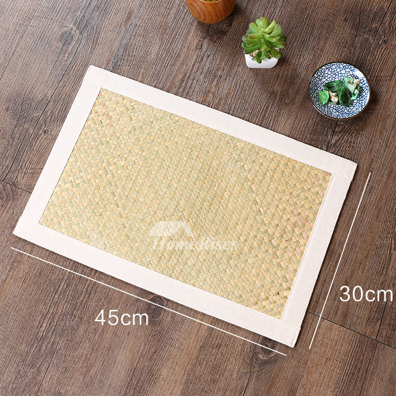 Woven Placemats Rectangule Hard Table Dinning Kitchen