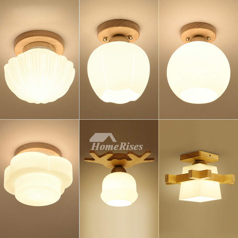 Ceiling Lights Cheap: Cheap Ceiling Lights Wood Glass Metal Semi Flush For