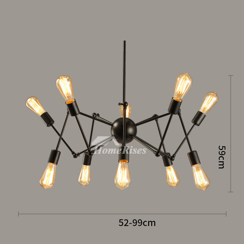 Unique chandeliers industrial black wrought iron hanging spider cheap aloadofball Images