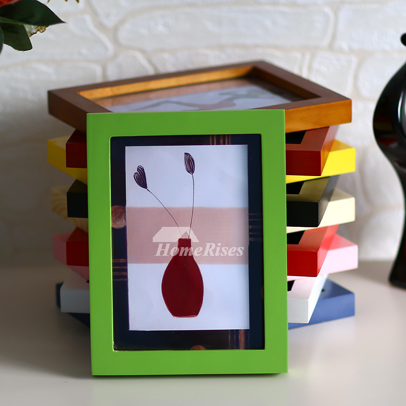 Cheap Picture Frames Redpinkbluegreenyellow Wooden Modern