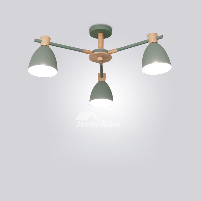 Rustic Wood Light Rustic Ceiling Light Wood Light Fixture: Modern Ceiling Lights Rustic Semi Flush 3/6/8 Light Wood