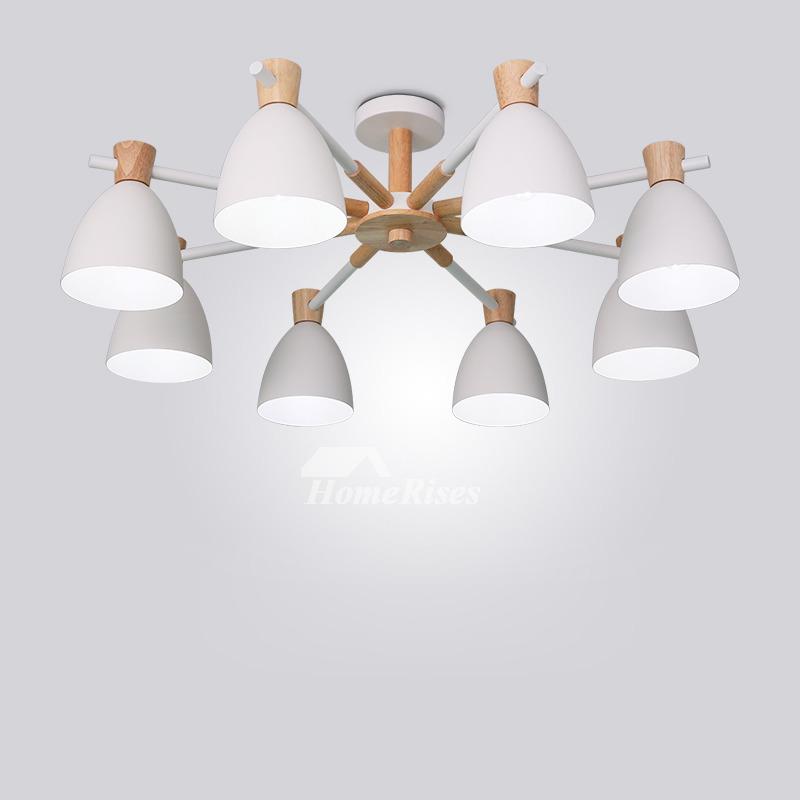 Living Room Ceiling Lights 3 6 8 Light Wood Wrought Iron