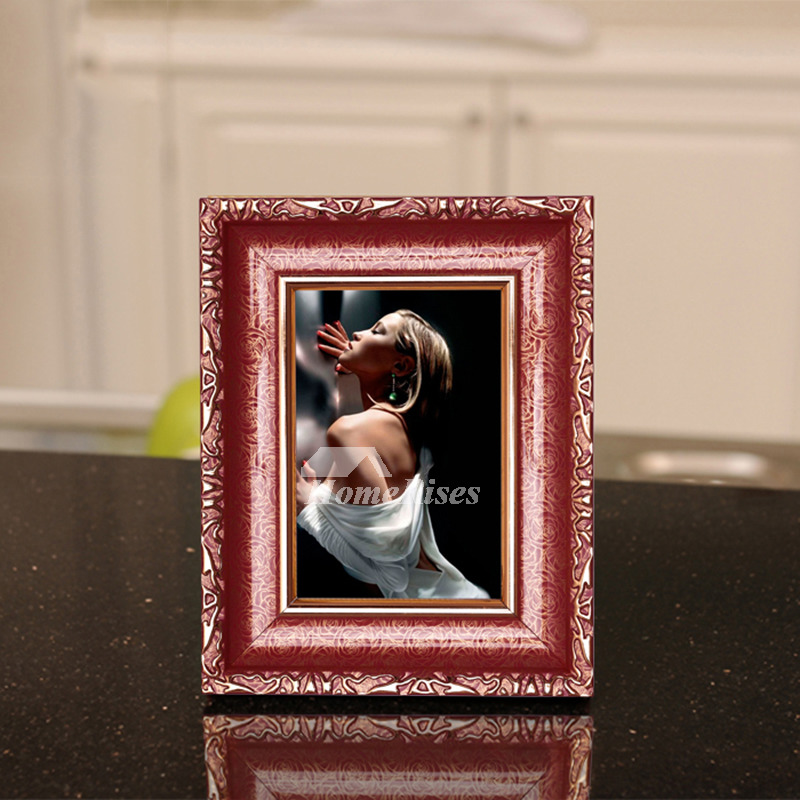 Red Decorative Unique Plastic 4X6 Picture Frames Wholesale
