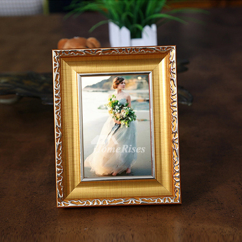 Modern Gold/White 4X6 Plastic Cheap Picture Frames Unique Wholesale