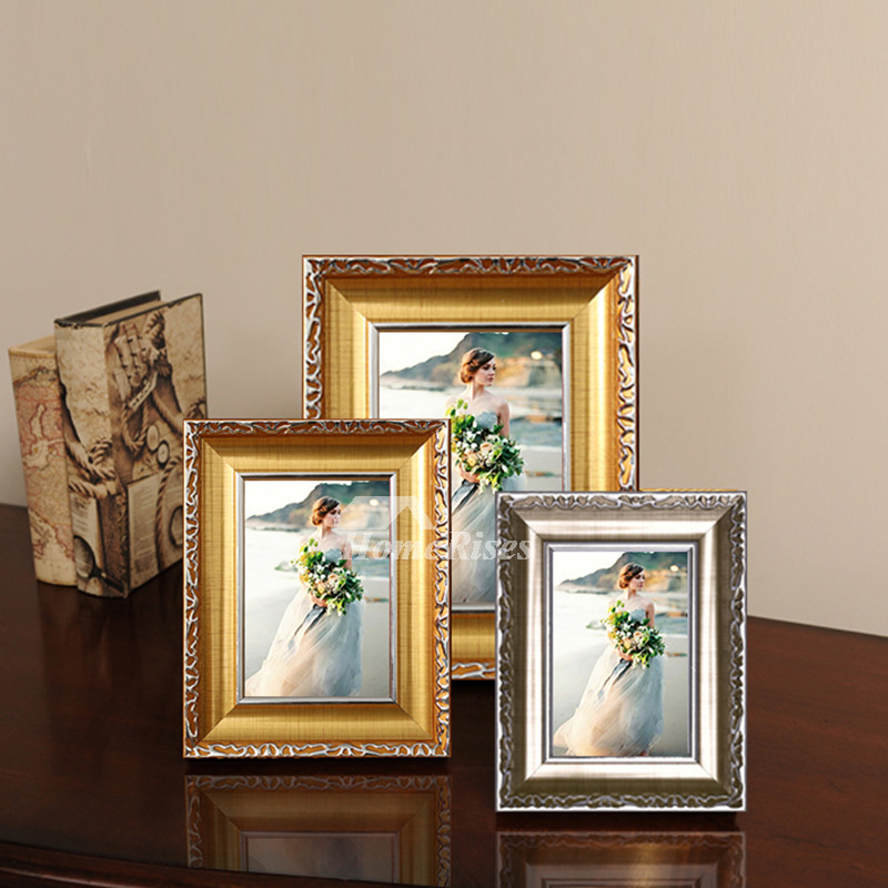 Modern Gold White 4x6 Plastic Cheap Picture Frames Unique