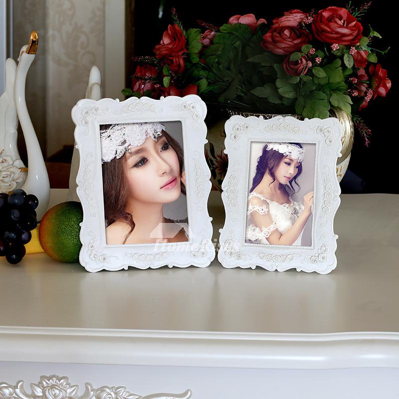 Cheap Resin White Rectangule 5X7 Picture Frames Modern Wholesale