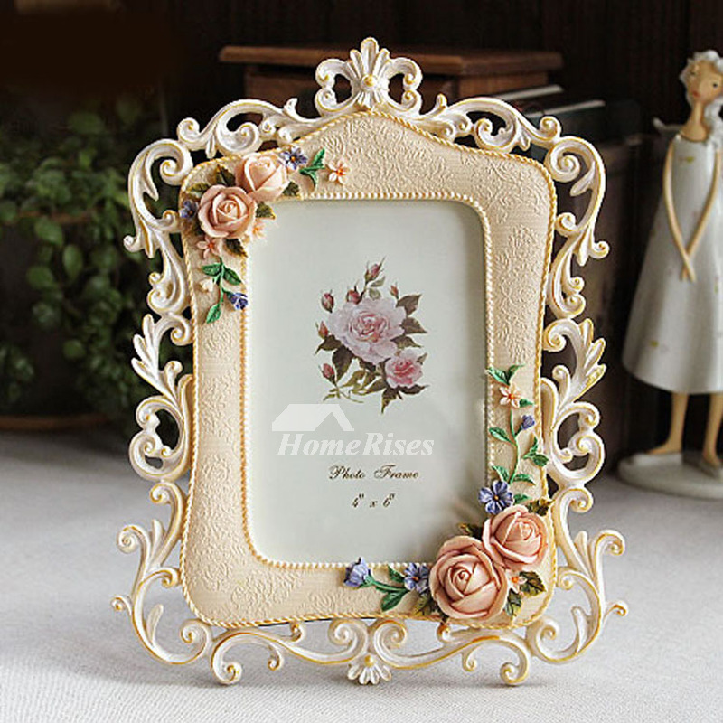 Designer Modern 8x10 Picture Frames Resin Carved