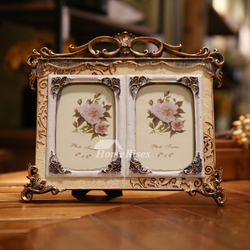Double Picture Frame 4x65x7 Resin Vintage Cheap Old Best