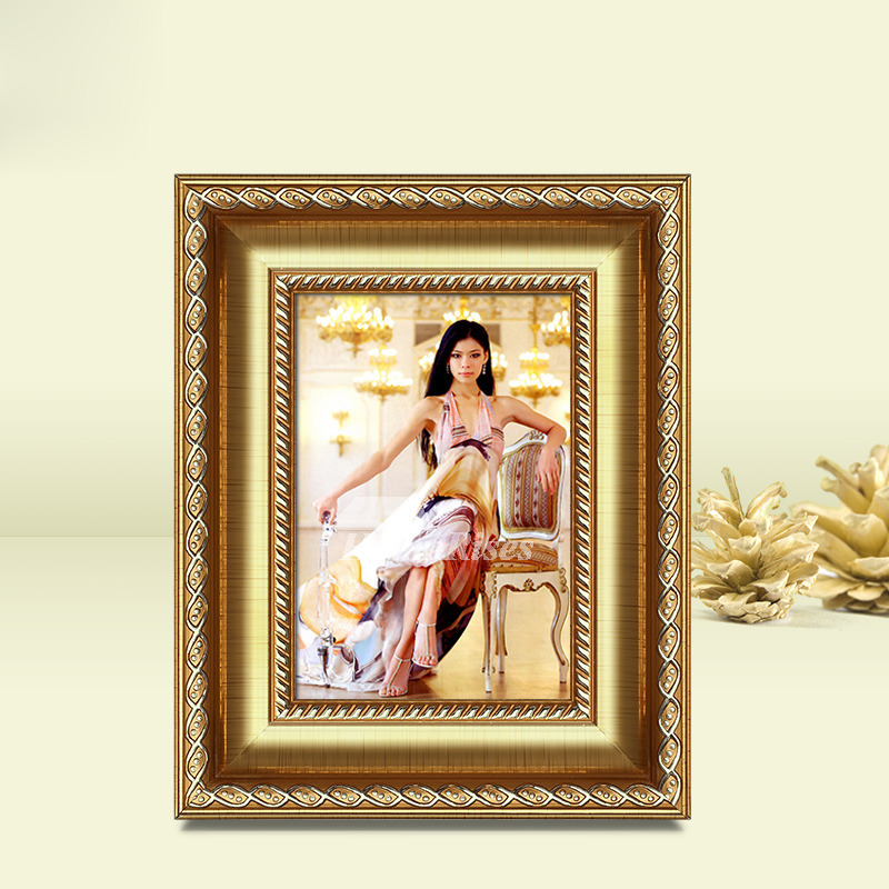 Gold Picture Frames Carved 5x74x66x8 Luxury Plastic Cheap Best
