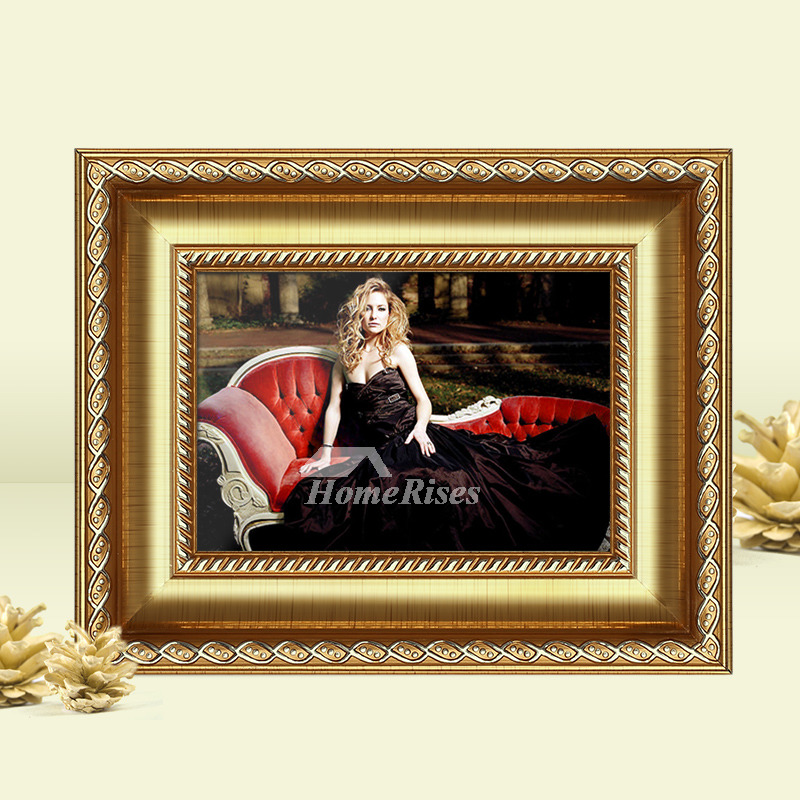 Gold Picture Frames Carved 5x7 4x6 6x8 Luxury Plastic