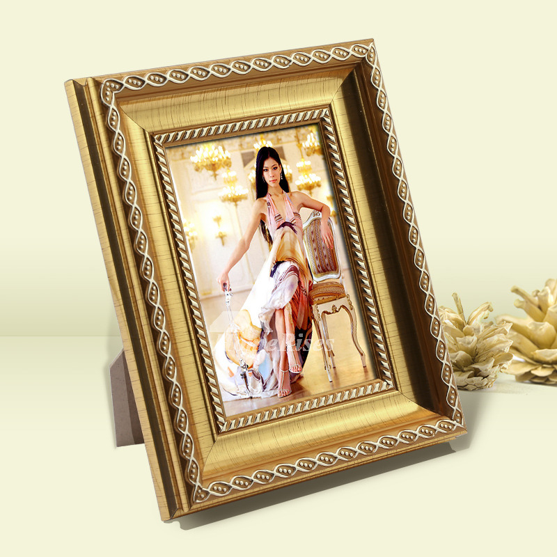 Cheap Frames From The Craft Store And Imagination: Gold Picture Frames Carved 5X7/4X6/6X8 Luxury Plastic
