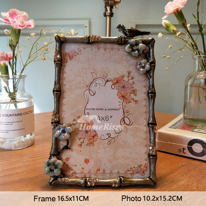 Vintage Picture Frames 4x65x35 Alloy Glass Small Rectanguleround
