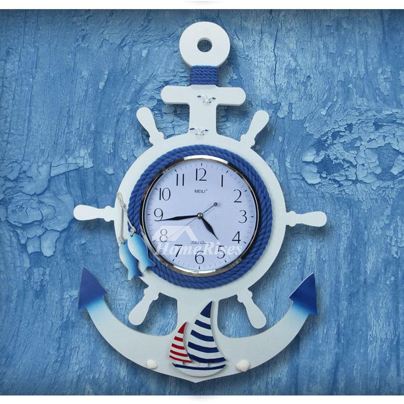 Nautical Wall Clock Beach Themed Creative Decorative Kids