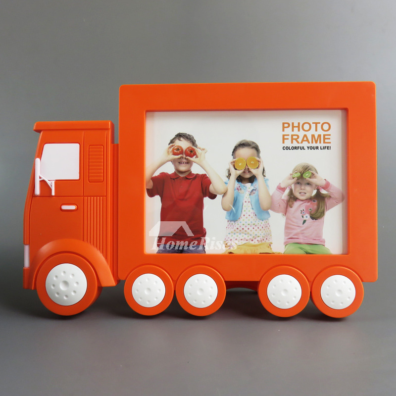 Cheap Kids Plastic 5X7 Picture Frames Orange/Blue /Pink