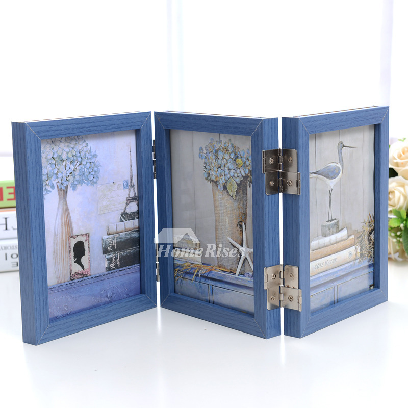 Wooden Picture Frames Double Sided 4X6/5X7/8X10/3.5X5 Rustic Fold