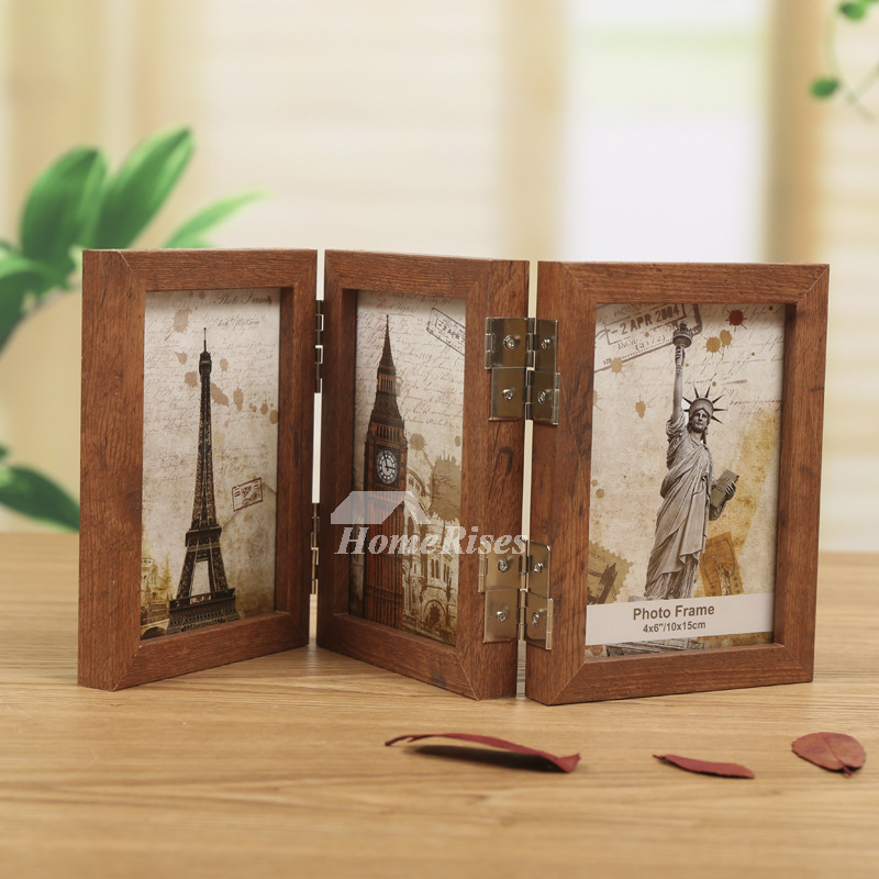 Wooden Picture Frames Double Sided 4x65x78x1035x5 Rustic Fold