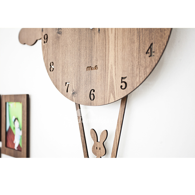 Pendulum Wall Clock Personalized Pink/Green/Blue/Brown