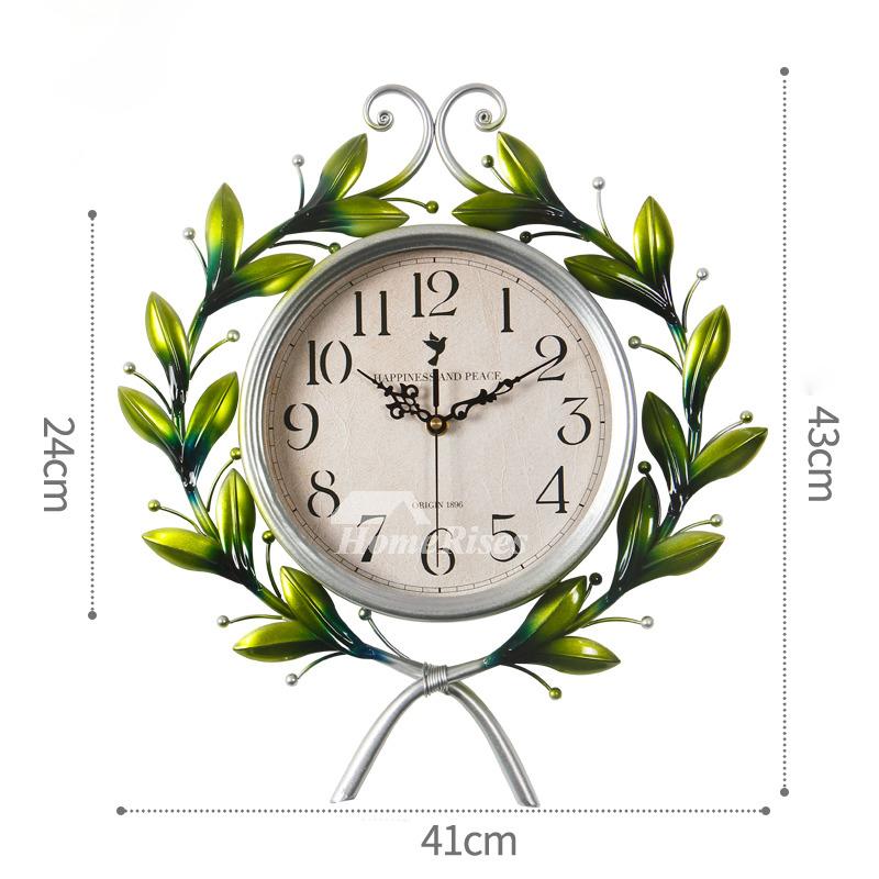 Wrought Iron Wall Clock Elegant 16 20 Inch Oversized Glass